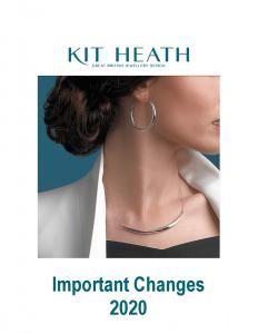 Kit Heath IMPORTANT CHANGES